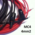 SET CABLE 4MM2 PANEL SOLAR AL CONTROLADOR DE CARGA (MC4)